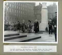 Remembrance Sunday (archivesplus) Tags: manchester sunday 1966 cenotaph remembrance remembrancesunday civicevents nelliebeer lordmayorsphotographalbum