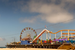Santa Monica Pier Amusement Park (Matthew Warner) Tags: california usa outdoors us losangeles unitedstates santamonica pacificocean santamonicapier santamonicabeach