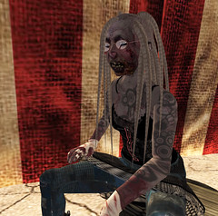 It's Ghoulish Day!7-Angharad (grady.echegaray) Tags: avatar secondlife movies psychedelic zombies yellowsubmarine thebeatles postapocalyptic ghouls digitalfashion redfestival tentrevival virtualfashion