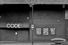 code (Harry Halibut) Tags: park street bw blancoynegro lamp car branco blackwhite code doors post noiretblanc seat south sheffield yorkshire images preto nightclub posters zwart wit weiss bianco blanc nero allrightsreserved eyre noire schwatz sheffieldbuildings contrastbysoftwarelaziness colourbysoftwarelaziness imagesofsheffield sheffieldarchitecture 2016andrewpettigrew sheff1604241012