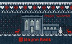 Ugly Sweater Wayne Bank (Justin Roach Work Stuff) Tags: advertising design graphicdesign bank batman uglysweater brucewayne honesdale waynebank