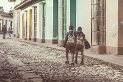 Friends (Jodi Newell) Tags: street travel school friends boys canon doors buddies cuba cobblestone backpack trinidad jodinewell jodisjourneys