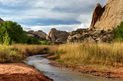 Capitol Reef (Ken Barber) Tags: travel river utah nationalpark stream capitolreef fremontriver