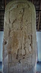 Estela 1, Dos Caobas. Museo Cuenca del Usumacinta. Frontera Corozal, Chiapas (LUCHO MALER) Tags: museo chiapas culturamaya arqueologia