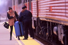 It's just a carry-on... (Zeolite C O) Tags: velvia amtrak nikonf carryon hoosierstate
