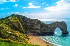 the magnificent arch of Durdle-Door rock (10000 wishes) Tags: sea beach landscape rocks arch sunny landmark coastline travelphotography jurassiccoast
