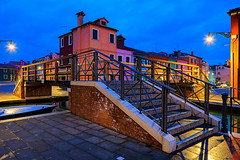 Burano (Tedz Duran) Tags: travel blue venice urban italy night rural photography lights twilight italia nightscape hour venezia burano urbanscape tedzduran