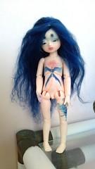 Azur body blushing (Blue Kitsune) Tags: doll bjd didi abjd bluefairy pocketfairy bodyblushing bjdtattoo