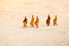 On their way to the Temple (Gigin - NoDigital) Tags: people orange nature fruits buildings temple sand asia cambodia monk places angkorwat geography activity angkor wat locations