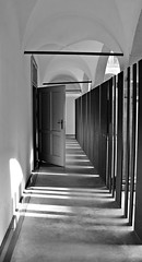 Door (ludovicapalumbo) Tags: door old light shadow blackandwhite art architecture contrast square alone loneliness victim human silence alienation