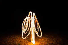 Fire Twirling (Joel) Tags: night fire patterns firetwirling