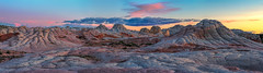 Pastel-Calmness (Maddog Murph) Tags: pink light sunset red arizona sky sun white colors beautiful yellow rock clouds landscape photography glow desert turquoise unique pastel ngc illuminated formation remote brilliant