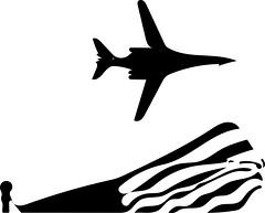 B-1B Vector (sjrankin) Tags: plane airplane edited jet grayscale bomber usaf processed vector usflag filtered unitedstatesairforce b1b vectorized 20april2016