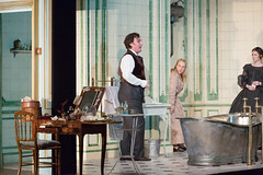 Ludovic Tézier, Diana Damrau, Rachael Lloyd in Katie Mitchell's Lucia di Lammermoor ©2016 ROH. Photograph by Stephen Cummiskey (Royal Opera House Covent Garden) Tags: music opera coventgarden royaloperahouse royalopera donizetti luciadilammermoor dianadamrau rachaellloyd ludovictézier bykatiemitchell