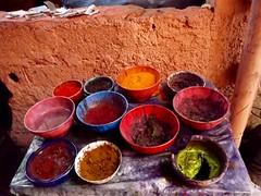 Couleurs (ape_regina) Tags: africa travel holiday colors colorful warm paint morocco marrakech souk medina nuances