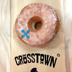 And a matching Crosstown Doughnut! (Bex.Walton) Tags: london coffee doughnut oldtrumanbrewery 2016 crosstown sandows londoncoffeefestival londoncoffeefestival2016 lcf2016 lcf16