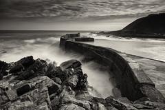 Collieston Breakwater (dawnlb83) Tags: longexposure sea seascape beach coast scotland rocks waves village aberdeenshire harbour tide breakwater coasta daytimelongexposure collieston scottishcoastline