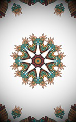 Samurai Kaleidoscope (sjrankin) Tags: art edited kaleidoscope clipart samurai japaneseart processed filtered 10april2016