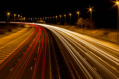 Slow Down (mlomax1) Tags: road cars night canon motorway lighttrails m56 eos600d