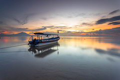 Sunrise at Sindhu Beach, Bali Indonesia (HakiimMislam) Tags: bali sunrise indonesia landscape boat sony sindhu sonya7