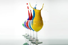 ..in fila per cinque.. (Antonio Iacobelli (Jacobson-2012)) Tags: glass colors flying nikon df acrylic 60mm splash nikkor colori bari highspeed d800 acrilici sb00 su800 bicchierini sb700 rf60 565ex sb910 yongunuo