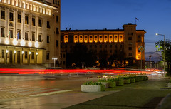 Light trails (teodorpk) Tags: longexposure travel light night sofia trails bulgaria sofiabynight longtrails