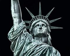 statute of liberty (twurdemann) Tags: newyorkcity travel newyork statue unitedstates manhattan copper nationalparkservice solarization colossal libertyisland bleachbypass statuteofliberty newyorkharbor gustaveeiffel statueoflibertynationalmonument libertas bedloesisland glamourglow neoclassicalsculpture whiteneutralizer nikcolourefex fredericaugustebartholdi detailextractor xf55200mm fujixt1 2016tripnewyork