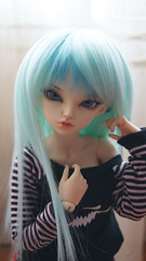 Introducing my new Girl <3 (Ailleon) Tags: black cute girl blueeyes bjd custom bluehair alternative minifee rheia minifeerheia yuzuchan
