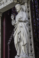 The Way, the Truth, and the Life (Lawrence OP) Tags: door sculpture paris statue god orb medieval blessing saintechapelle jesuschrist