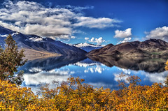 Southern Lake (Kevin_Jeffries) Tags: autumn newzealand sky cloud lake reflection tree nature water beautiful beauty countryside amazing interesting bush superb scenic stunning a1 impressive