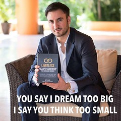 You don't  create a $100 million company by thinking small. You do it by dreaming big. #dreambig #mobe #limitless #success #youngandrich #damnsexyman