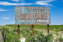 Thunderbird Motel (Rob Sneed) Tags: sign rural vintage nikon highway peeling paint texas hand desert painted ghost rustic motel totem pole highdesert weathered westtexas desolate thunderbird shrubs presidio yucca rugged marfa fenceline transpecos us67 marfalights chinatimountains d700 shaftner