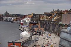 Stockholm frn Gondolen (Ana >>> f o t o g r a f  a s) Tags: europa europe sweden stockholm sdermalm schweden slussen sverige scandinavia sthlm hdr estocolmo stoccolma suecia fused sder katarinahissen gondolen photomatix escandinavia potd:country=es hdrworldsweden