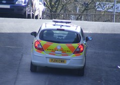 4156 - WYP - YJ14 CWN - 004 (2) (Call the Cops 999) Tags: uk england west car britain yorkshire united great north police kingdom vehicles 101 gb vehicle service halifax emergency 112 services vauxhall corsa 999 cwn wyp yj14