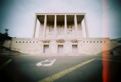 Palais des Arts des Sports et du travail (Narbona) (Garuna bor-bor) Tags: camera film sports architecture 35mm geotagged diy arquitectura arts pinhole homemade travail palais 100 expired aude joachim modernismo languedoc matchbox narbonne modernisme functionalism fotografa narbona fujicolor 2016 rationalism occitanie racionalismo stnop fonctionnalisme arkitektura occitnia funcionalismo argazkilaritza caducado estenopica estenopeikoa lengadc okzitania perim rationalisme c geolokalizatua geokokatua ucitano iraungituta orratzulo funtzionalismo arrazionalismo gnard