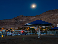 Moon over Mountain (ozzios) Tags: moon mountains nature israel il deadsea southdistrict