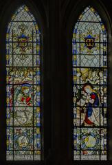 Southwell Minster window n.4 (Jules & Jenny) Tags: stainedglasswindow southwellminster kempe