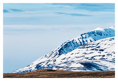 Blue mountain (Chris Wolffensperger) Tags: blue sky snow mountains nature grass iceland fuji natur xf greatphotographers xpro2 1004004556