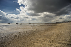 Thorpe Bay, Southend. Pier in distance. (Gordon Haws) Tags: pier estuary cumulus riverthames essex mudflats southend englishchannel isleofgrain tidalestuary thamesestuary launchramp southendpier isleofgrainpowerstation isleofgrainpowerstationchimney
