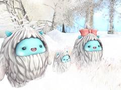 meet the Yeti family (earthfayrie) Tags: winter sl secondlife letitsnow secondlife:z=23 secondlife:y=125 secondlife:x=192 secondlife:region=islesoflyonesse secondlife:parcel=letitsnow