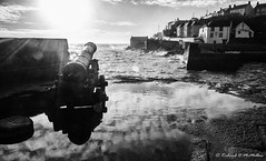 Porthleven, Cornwall (Richard McMellon) Tags: sea blackwhite cornwall harbour cannon porthleven