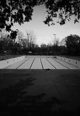 Lines (Cassandrea Xavier) Tags: blackandwhite film pool vertical blackwhite swimmingpool disposablecamera disposable disposablefilm