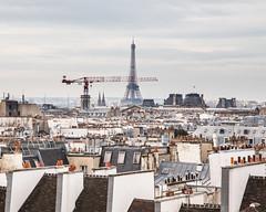 Paris (DUOWEN CHEN) Tags: roof chimney paris france tower rooftop museum crane landmark eiffel icon pompidou muse