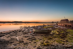 Dawn Breaks (Nick_Rowland) Tags: sky beach water sunrise dawn suffolk mud hut martlesham woodbridge riverdeben kyson