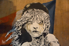 Banksy - London 2016 (Butterfly Art News) Tags: cosette streetart streets london stencil banksy crisis calais lesmis teargas lesmiserables qrcode miserables frenchflag migrants frenchembassy migrantcrisis