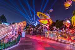 Sleeping Beauty from Tomorrowland (Jonny C.) Tags: longexposure disneyland disney tomorrowland sleepingbeautycastle