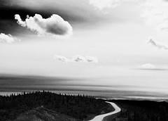 (silvia.alessi) Tags: travel sky bw alaska clouds landscape biancoenero