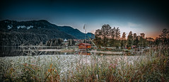 small hut at the lake (dastine) Tags: lake mountains alps landscape europe hut