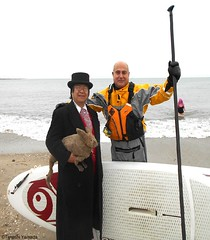 Dr. Takeshi Yamada and Seara (Coney Island Sea Rabbit) at the winter swimming event by the Coney Island Polar Bear Club at the Coney Island Beach in Brooklyn, New York on January 17 (Sun), 2015.  merman.  20160117Sun DSCN3471=5040pC1 (searabbits23) Tags: winter ny newyork sexy celebrity art beach fashion animal brooklyn asian coneyisland japanese star yahoo costume tv google king artist dragon god cosplay manhattan wildlife famous gothic goth performance pop taxidermy cnn tuxedo bikini tophat unitednations playboy entertainer samurai genius donaldtrump mermaid amc mardigras salvadordali billclinton hillaryclinton billgates aol vangogh curiosities bing sideshow jeffkoons globalwarming takashimurakami pablopicasso steampunk damienhirst cryptozoology freakshow barackobama polarbearclub seara immortalized takeshiyamada museumofworldwonders roguetaxidermy searabbit ladygaga climategate