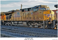 UP ES44AC 7628 (Robert W. Thomson) Tags: railroad up train montana diesel railway trains shelby unionpacific locomotive trainengine ge gevo es44ac c45accte es44 evolutionseries sixaxle